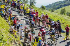 Ομάδα ποδηλατών στο συνταγματάρχη du Grand Colombier - περιοδεύστε το de Γαλλία 201 Στοκ Εικόνα