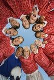 Ομάδα ποδοσφαίρου κοριτσιών στη συσσώρευση Στοκ Εικόνες