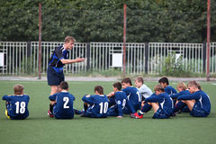 ομάδα ποδοσφαίρου λεω&phi Στοκ Εικόνες