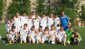 Ομάδα ποδοσφαίρου Στοκ Φωτογραφίες