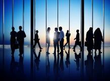 Ομάδα πολυάσχολων επιχειρηματιών Στοκ Φωτογραφίες