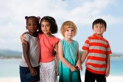 Ομάδα πολυφυλετικού πορτρέτου παιδιών στοκ εικόνες