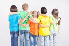 Ομάδα πολυφυλετικών αστείων παιδιών Στοκ Εικόνες