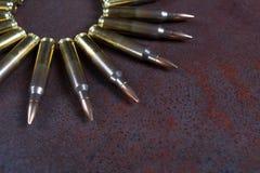 Ομάδα πυρομαχικών που τοποθετείται γεωμετρικά Στοκ Εικόνες