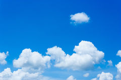 Ομάδα σύννεφων Στοκ Εικόνα