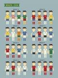Ομάδα της Βραζιλίας 2014 διανυσματική απεικόνιση