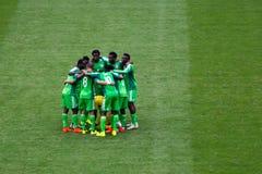 Ομάδα της Νιγηρίας στο Παγκόσμιο Κύπελλο Βραζιλία 2014 της FIFA Στοκ εικόνες με δικαίωμα ελεύθερης χρήσης