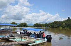 Ομάδα τουρίστα σε Sierpe, Κόστα Ρίκα Στοκ εικόνα με δικαίωμα ελεύθερης χρήσης
