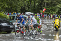 Ομάδα τριών ποδηλατών Στοκ εικόνα με δικαίωμα ελεύθερης χρήσης