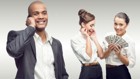 Ομάδα των νέων επιτυχών επιχειρηματιών Στοκ Φωτογραφία