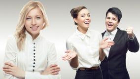 Ομάδα των νέων επιτυχών επιχειρηματιών Στοκ Φωτογραφίες