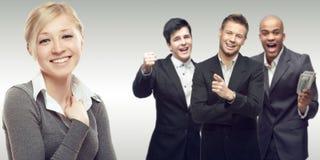 Ομάδα των νέων επιτυχών επιχειρηματιών Στοκ Εικόνα