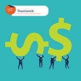 Ομάδα φέρνοντας σημαδιών χρημάτων businesspeople Στοκ φωτογραφία με δικαίωμα ελεύθερης χρήσης