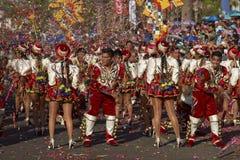 Ομάδα χορού Caporales - Arica, Χιλή Στοκ Εικόνα
