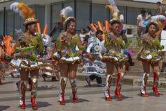 Ομάδα χορού Morenada σε Arica, Χιλή Στοκ φωτογραφίες με δικαίωμα ελεύθερης χρήσης