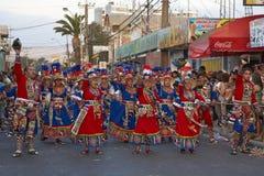 Ομάδα χορού Tinku - Arica, Χιλή Στοκ φωτογραφία με δικαίωμα ελεύθερης χρήσης