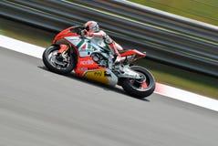 Ομάδα Aprilia Alitalia Superbike που συναγωνίζεται ανώτατο Biaggi Στοκ Εικόνα