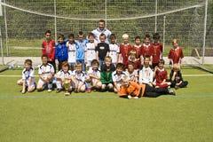 Ομάδα BSC SChwalbach ποδοσφαίρου κατόπιν Στοκ Φωτογραφία