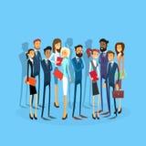 Ομάδα Businesspeople ομάδας επιχειρηματιών επίπεδο Στοκ εικόνα με δικαίωμα ελεύθερης χρήσης