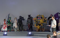 Ομάδα cosplayers κατά τη διάρκεια του cosplay διαγωνισμού σε Animefest Στοκ Φωτογραφίες
