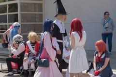 Ομάδα cosplayers σε Animefest, anime και τη σύμβαση manga Στοκ εικόνες με δικαίωμα ελεύθερης χρήσης