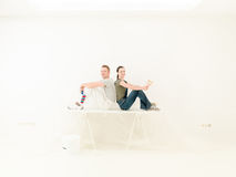 Ομάδα DIY ζευγών Στοκ Εικόνες