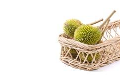Ομάδα Durian στο καλάθι Στοκ εικόνες με δικαίωμα ελεύθερης χρήσης