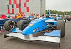 Ομάδα Interwetten racecar στη μάντρα Στοκ φωτογραφίες με δικαίωμα ελεύθερης χρήσης
