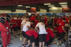 Ομάδα Monlau Repsol τεχνικό αντοχή 24 ωρών Στοκ Φωτογραφίες