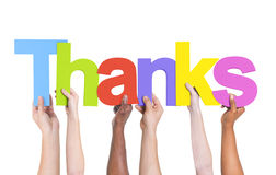 Ομάδα Multiethnic ευχαριστιών εκμετάλλευσης χεριών Στοκ εικόνες με δικαίωμα ελεύθερης χρήσης