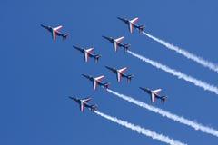 Ομάδα Patrouille de Γαλλία Aerobatic στοκ εικόνες