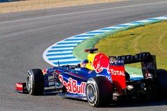Ομάδα Red Bull F1, Sebastian Vettel, 2012 Στοκ φωτογραφίες με δικαίωμα ελεύθερης χρήσης