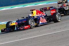 Ομάδα Red Bull F1, Sebastian Vettel, 2012 Στοκ εικόνες με δικαίωμα ελεύθερης χρήσης