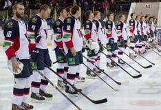 Ομάδα Slovan αμέσως πριν από το παιχνίδι Στοκ φωτογραφία με δικαίωμα ελεύθερης χρήσης