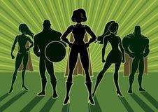 Ομάδα 3 Superhero απεικόνιση αποθεμάτων