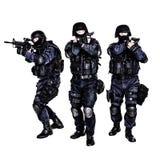 Ομάδα SWAT στη δράση Στοκ εικόνα με δικαίωμα ελεύθερης χρήσης