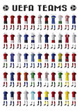 Ομάδες UEFA Στοκ Εικόνες