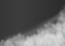Ομίχλη ή καπνός που απομονώνεται στο διαφανές υπόβαθρο r ελεύθερη απεικόνιση δικαιώματος