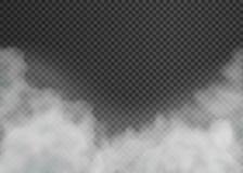 Ομίχλη ή καπνός που απομονώνεται στο διαφανές υπόβαθρο r απεικόνιση αποθεμάτων