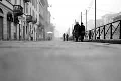 Ομίχλη οδών του Μιλάνου στοκ φωτογραφίες