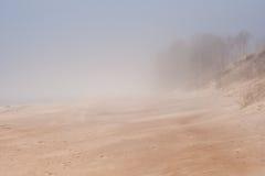 ομίχλη παραλιών στοκ εικόνες