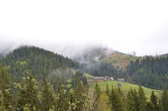 Ομίχλη στο βουνό στοκ φωτογραφίες