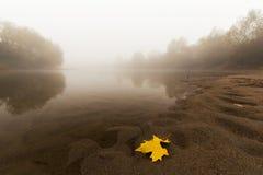 Ομίχλη και υδρονέφωση σε έναν άγριο ποταμό Στοκ φωτογραφία με δικαίωμα ελεύθερης χρήσης