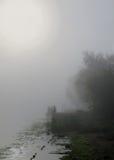 Ομίχλη καναλιών Στοκ φωτογραφίες με δικαίωμα ελεύθερης χρήσης