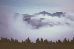 Ομίχλη πρωινού στα βουνά στοκ εικόνα με δικαίωμα ελεύθερης χρήσης