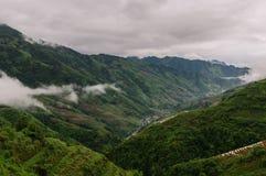 Ομίχλη στα βουνά στοκ εικόνα