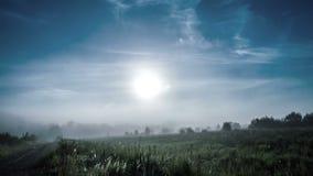 Ομίχλη στην αυγή, χρονικές περιτυλίξεις 4k απόθεμα βίντεο