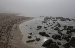 Ομίχλη στην παραλία EL arenal στη Μαγιόρκα Στοκ Εικόνα