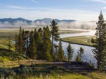 Ομίχλη στον ποταμό Στοκ Εικόνες