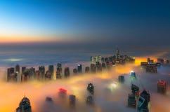 Ομίχλη στο Ντουμπάι Στοκ Φωτογραφία